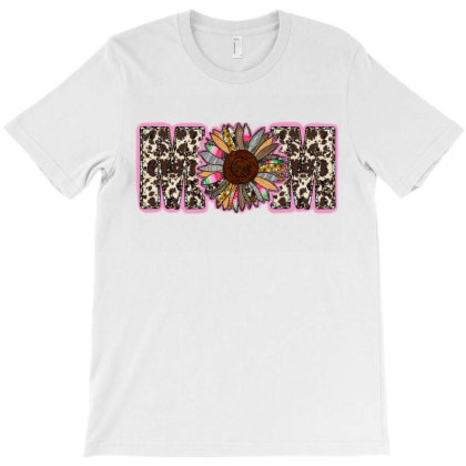 Mom Cowhide And Sunflower T-shirt Designed By Badaudesign