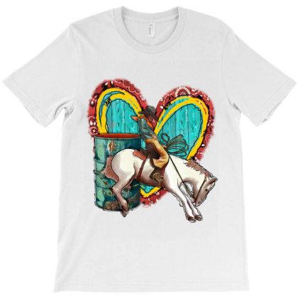 Barrel Heart And Cowboy T-shirt Designed By Badaudesign