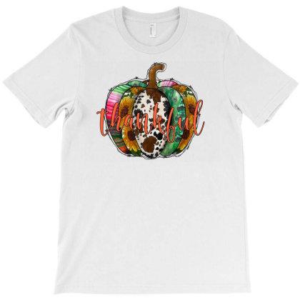 Thankful Pumpkin T-shirt Designed By Badaudesign