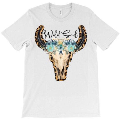 Wild Soul Skull T-shirt Designed By Badaudesign