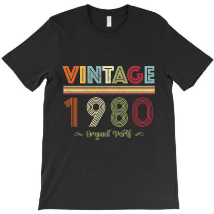 Vintage 1980 Original Parts T-shirt Designed By Badaudesign