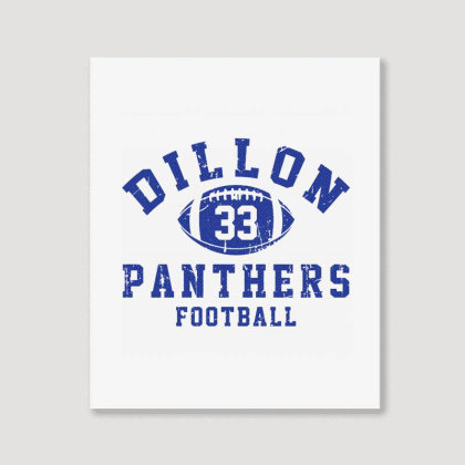Dillon Panthers Football Portrait Canvas Print Designed By Tridestia