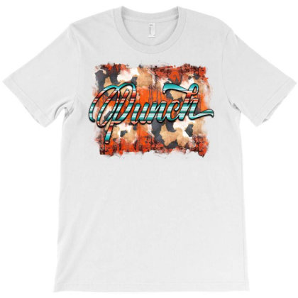 Punchy Serape And Cowhide T-shirt Designed By Badaudesign