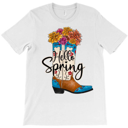 Hello Spring T-shirt Designed By Badaudesign
