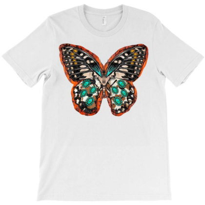 Cowhide Butterfly T-shirt Designed By Badaudesign