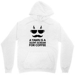 silent scream for coffee Unisex Hoodie   Artistshot