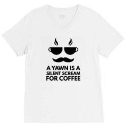 silent scream for coffee V-Neck Tee   Artistshot