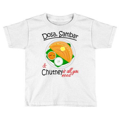 Asia South Indian Vegan Dosa Sambar & Chutney Toddler T-shirt Designed By Vnteees