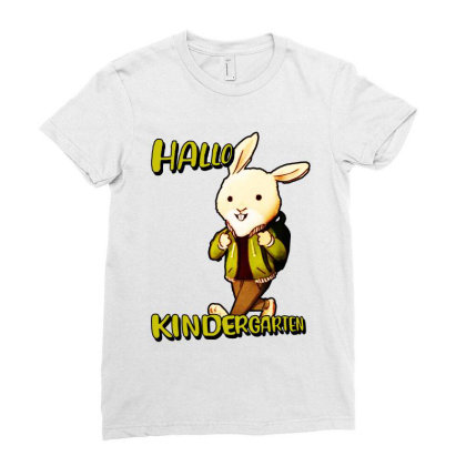 Hallo Kinderarten Kita Ladies Fitted T-shirt Designed By Sie Sie