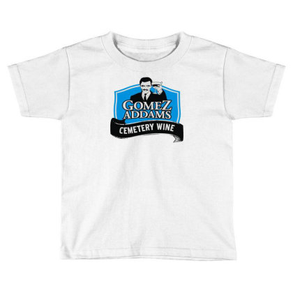Gomez Addams Cemetery Wine Toddler T-shirt Designed By Enjang