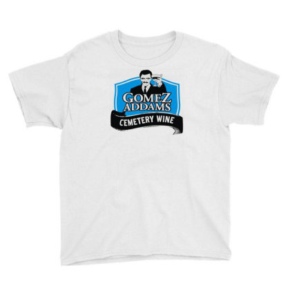 Gomez Addams Cemetery Wine Youth Tee Designed By Enjang