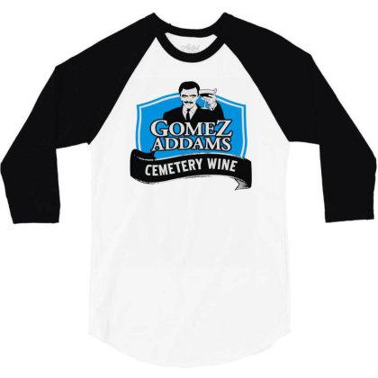 Gomez Addams Cemetery Wine 3/4 Sleeve Shirt Designed By Enjang