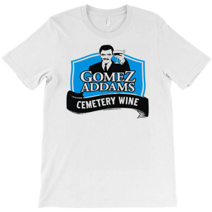Gomez Addams Cemetery Wine T-shirt Designed By Enjang