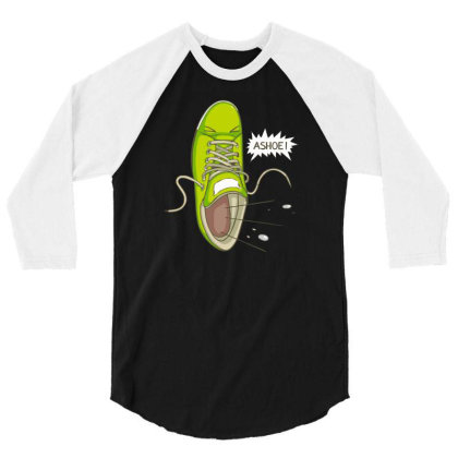 Bless You Funny Shoe 3/4 Sleeve Shirt Designed By Dony_store