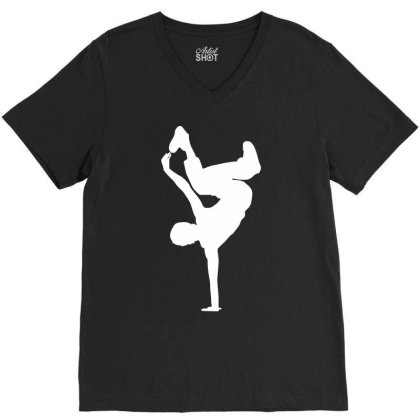 Breakdancer V-neck Tee Designed By Dony_store