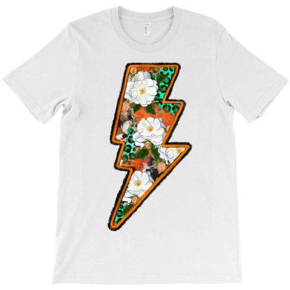 Flowers Lighting Bolt T-shirt Designed By Badaudesign