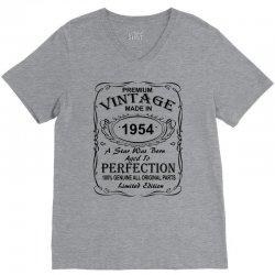 Birthday Gift Ideas for Men and Women was born 1954 V-Neck Tee | Artistshot