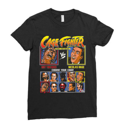 Cage Fighter - Not The Bees Vs Nicolas Rage Choose Your Cage Ladies Fitted T-shirt Designed By Cuser0105