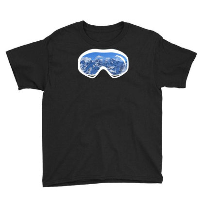 Ski Goggles Mountain Snowboard Youth Tee Designed By Funtee