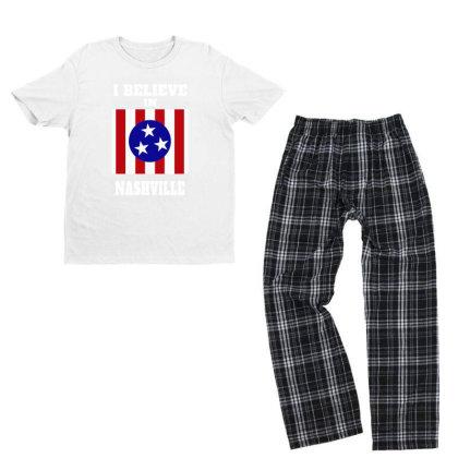 I Believe Youth T-shirt Pajama Set Designed By Pinkanzee