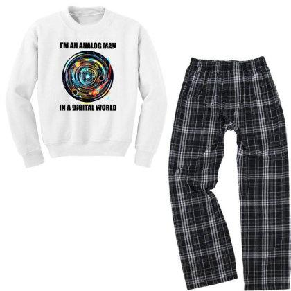 Digital World Youth Sweatshirt Pajama Set Designed By Pinkanzee