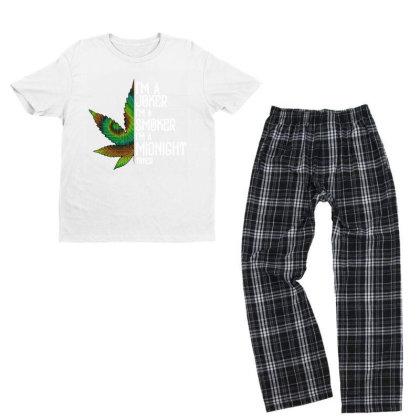 I'm A Midnight Youth T-shirt Pajama Set Designed By Pinkanzee