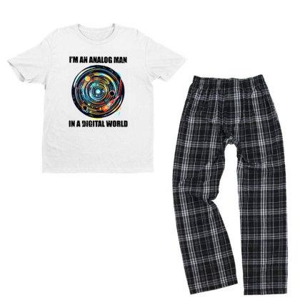 Digital World Youth T-shirt Pajama Set Designed By Pinkanzee