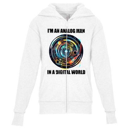 Digital World Youth Zipper Hoodie Designed By Pinkanzee