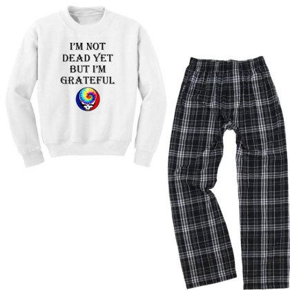 I'm Grateful Youth Sweatshirt Pajama Set Designed By Pinkanzee