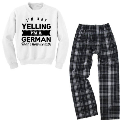 I'm A German Youth Sweatshirt Pajama Set Designed By Pinkanzee
