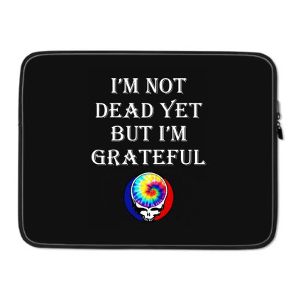 I'm Grateful Laptop Sleeve Designed By Pinkanzee