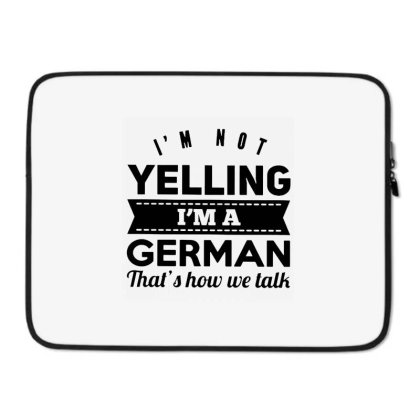 I'm A German Laptop Sleeve Designed By Pinkanzee