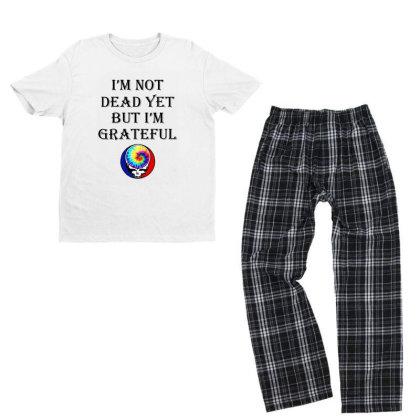I'm Grateful Youth T-shirt Pajama Set Designed By Pinkanzee
