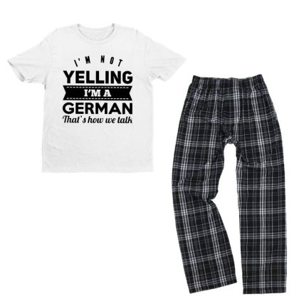 I'm A German Youth T-shirt Pajama Set Designed By Pinkanzee
