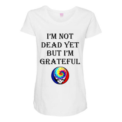 I'm Grateful Maternity Scoop Neck T-shirt Designed By Pinkanzee