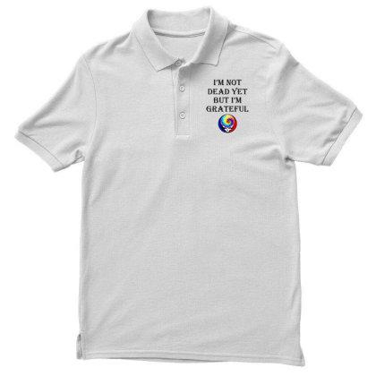 I'm Grateful Men's Polo Shirt Designed By Pinkanzee