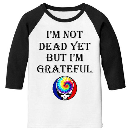 I'm Grateful Youth 3/4 Sleeve Designed By Pinkanzee