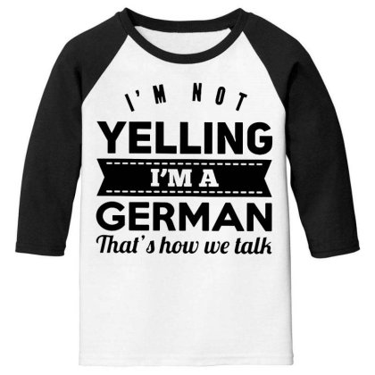 I'm A German Youth 3/4 Sleeve Designed By Pinkanzee