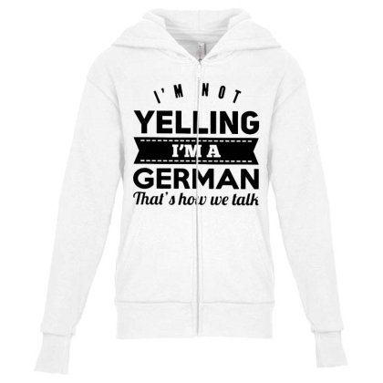 I'm A German Youth Zipper Hoodie Designed By Pinkanzee