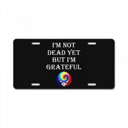 I'm Grateful License Plate Designed By Pinkanzee