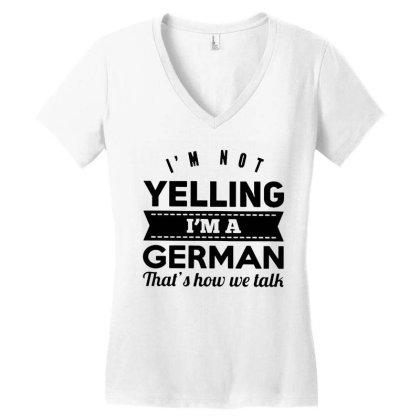 I'm A German Women's V-neck T-shirt Designed By Pinkanzee