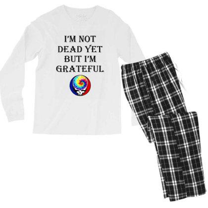 I'm Grateful Men's Long Sleeve Pajama Set Designed By Pinkanzee