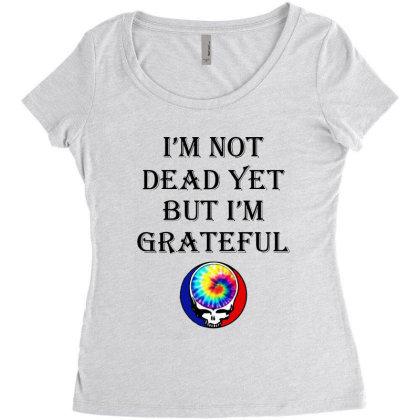 I'm Grateful Women's Triblend Scoop T-shirt Designed By Pinkanzee