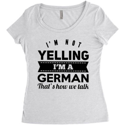 I'm A German Women's Triblend Scoop T-shirt Designed By Pinkanzee
