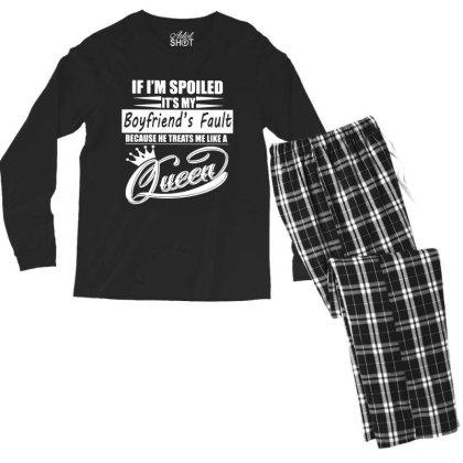 I'm Spoiled Men's Long Sleeve Pajama Set Designed By Pinkanzee