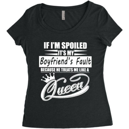 I'm Spoiled Women's Triblend Scoop T-shirt Designed By Pinkanzee