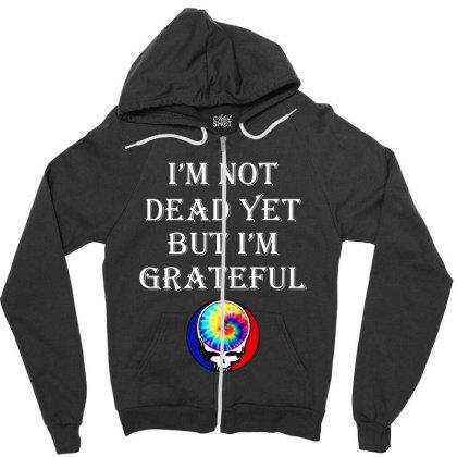I'm Grateful Zipper Hoodie Designed By Pinkanzee