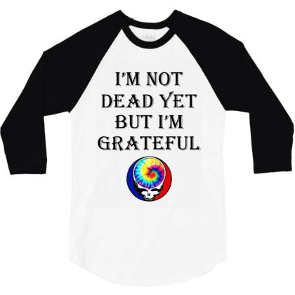 I'm Grateful 3/4 Sleeve Shirt Designed By Pinkanzee