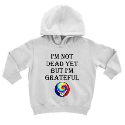 I'm Grateful Toddler Hoodie Designed By Pinkanzee