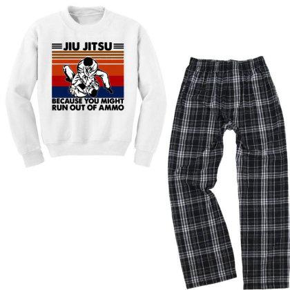 Jiu Jitsu Youth Sweatshirt Pajama Set Designed By Pinkanzee